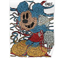 Melted Mickey (Sky Blue) Poster