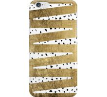 Artistic Chic Gold & Black Zigzag & Abstract Triangles iPhone Case/Skin