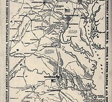 Civil War Maps 0950 Map of the seat of war positions of the rebel forces batteries entrenchments and encampments in Virginia-the fortifications for the protection of Richmond by wetdryvac
