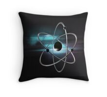 Metallic atom in space  Throw Pillow