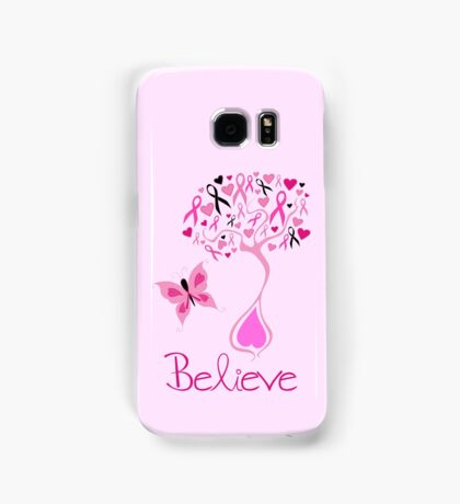 Believe - Breast Cancer Survivor Samsung Galaxy Case/Skin