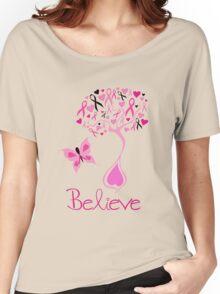 Believe - Breast Cancer Survivor Women's Relaxed Fit T-Shirt