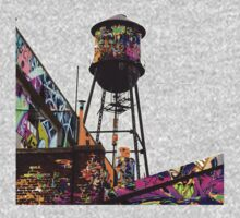 Water tower graffiti Kids Tee