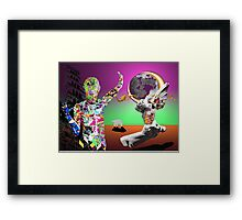 Graffiti surrealism  Framed Print