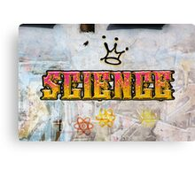 Science is king Graffiti on a wall  Canvas Print