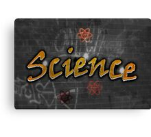 Science Graffiti on a wall  Canvas Print