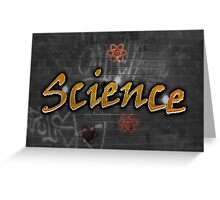Science Graffiti on a wall  Greeting Card
