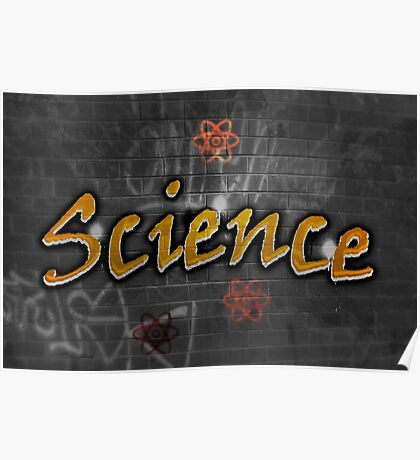 Science Graffiti on a wall  Poster