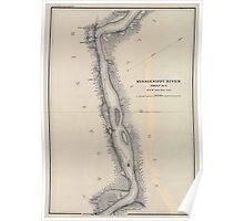 Civil War Maps 1166 Mississippi River from Cairo Ill to St Marys Mo in VI sheets 05 Poster