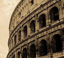 Rome - The Colosseum in sepia tones  by Andrea Mazzocchetti