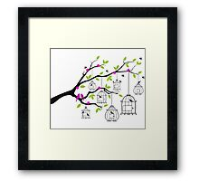 cute birds #5 Framed Print