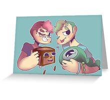 Septiplier - tiny box tim and sam Greeting Card
