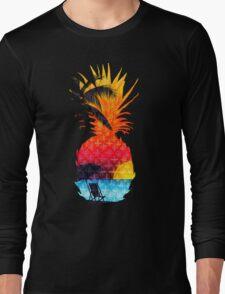 Pineapple Summer Beach Long Sleeve T-Shirt