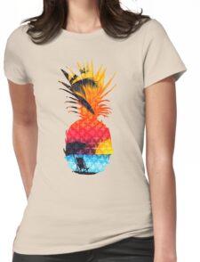 Pineapple Summer Beach Womens Fitted T-Shirt