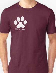 DOG: White Paw Print Unisex T-Shirt