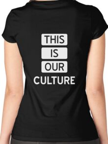 Fall Out Boy THIS IS OUR CULTURE Women's Fitted Scoop T-Shirt