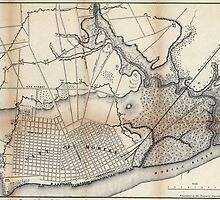 Civil War Maps 1500 Rebel defences Mobile Alabama occupied by Union forces under Maj Gen ERS Canby comdg by wetdryvac