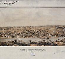 Civil War Maps 1899 View of Fredericksburg Va Nov 1862 by wetdryvac