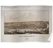 Civil War Maps 1899 View of Fredericksburg Va Nov 1862 Poster