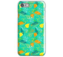 Сape gooseberry,  pears and flowers pattern iPhone Case/Skin