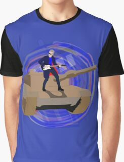 Doctor Who Riding a Tank and Playing Guitar Graphic T-Shirt