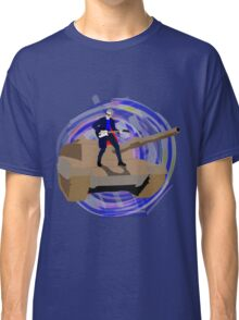 Doctor Who Riding a Tank and Playing Guitar Classic T-Shirt