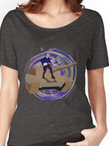 Doctor Who Riding a Tank and Playing Guitar Women's Relaxed Fit T-Shirt