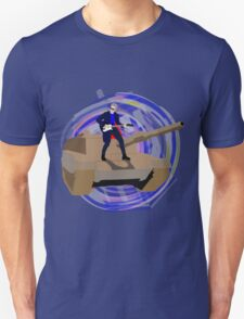 Doctor Who Riding a Tank and Playing Guitar T-Shirt