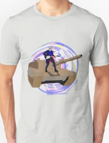 Doctor Who Riding a Tank and Playing Guitar Unisex T-Shirt