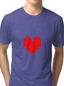 Undertale - Red Soul Tri-blend T-Shirt