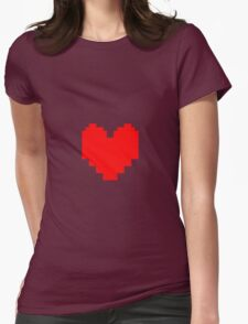 Undertale - Red Soul Womens Fitted T-Shirt