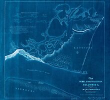 Civil War Maps 0937 Map of the rebel fortifications at Columbus Ky Inverted by wetdryvac