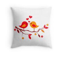 cute birds #10 Throw Pillow