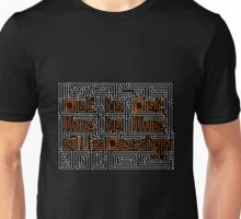 Dot todot, line to line all is design Unisex T-Shirt