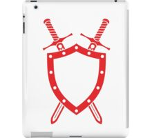 Shield & Swords Tattoo Design - Red iPad Case/Skin