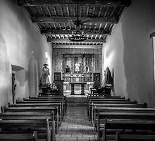 Mission San Juan Capistrano Texas BW by joancarroll