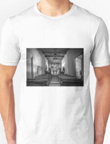 Mission San Juan Capistrano Texas BW Unisex T-Shirt