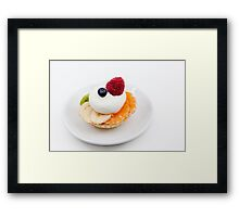 tart from fruit Framed Print