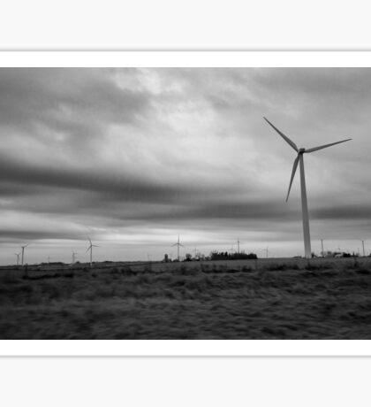 Black and White Wind Turbine #2 Sticker