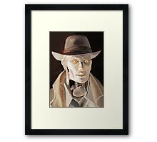 Synth Detective Framed Print