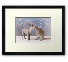 Wishing you a prosperous new year! Framed Print