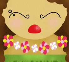 Hawaiian kokeshi doll Sticker