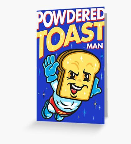 Super Toast Man Greeting Card
