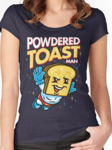 Super Toast Man Women's Fitted Scoop T-Shirt