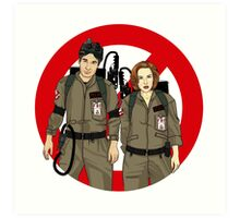 Ghostbusters Files - Mulder & Scully Art Print