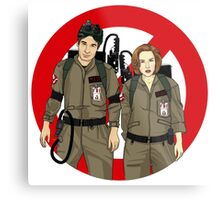 Ghostbusters Files - Mulder & Scully Metal Print