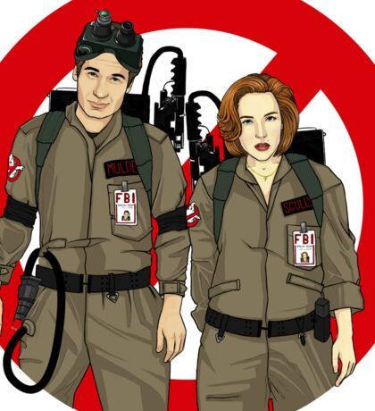 Ghostbusters Files - Mulder & Scully Sticker
