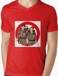 Ghostbusters Files - Mulder & Scully Mens V-Neck T-Shirt