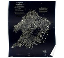 Civil War Maps 0104 Battle field of Chickamauga Georgia Inverted Poster