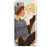 cigarette kiss iPhone Case/Skin